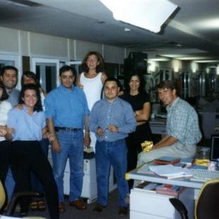 Equipo Hora 25 con Carlos Llamas (1997)