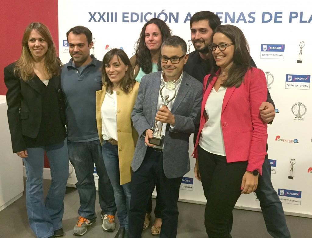 El equipo de SER Madrid recoge la Antena de Plata concedida a La Ventana de Madrid