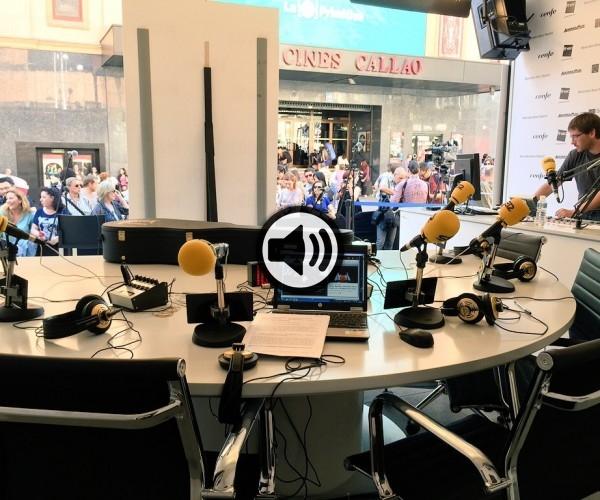 La radio en la Plaza de Callao